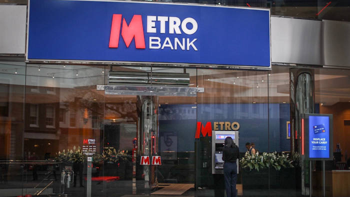 Metro bank in the city of London.