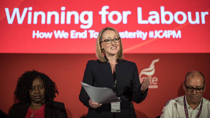 Labour shadow secretary of state for business, Rebecca Long-Bailey, speaks at an ending austerity fringe event at the Labour Party Conference in Liverpool today.