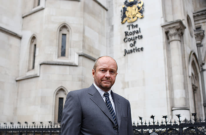 Scott Young at the High Court in London on November 01. 2013. Michelle Young, 49, estimated that her husband Scot Young, 51, was worth