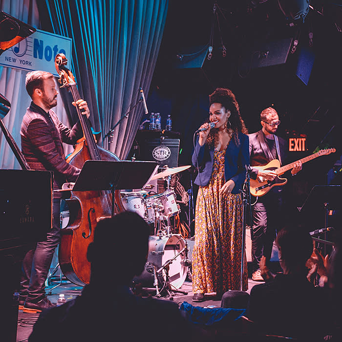 Henderson performing at Blue Note jazz club in Greenwich Village, New York