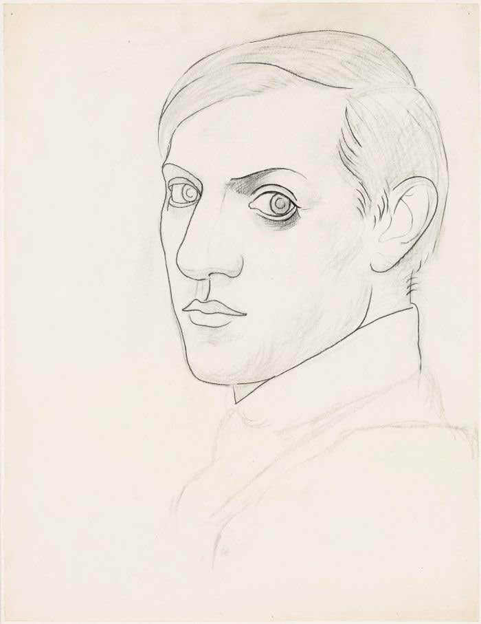 Fluid lines, expressive brilliance: 'Self-portrait' (1918)