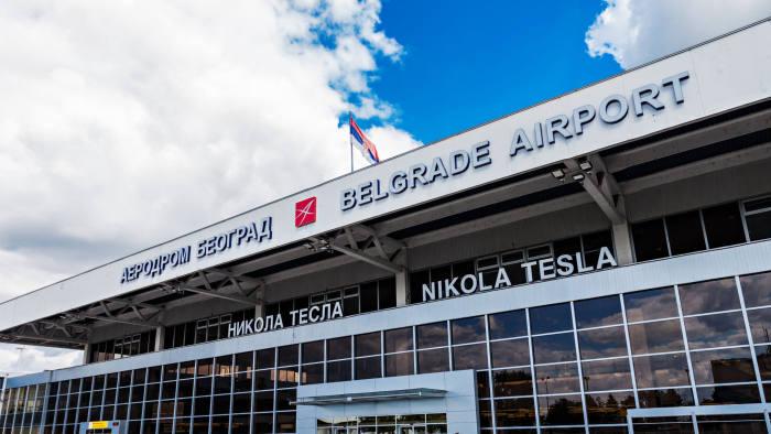 BELGRADE, SERBIA - MAY 14: Belgrade Nikola Tesla Airport on May, 14, 2013, Belgrade, Serbia. Aerodrom Nikola Tesla is the primary international airport serving Belgrade, Serbia.; Shutterstock ID 141389107; Department: -; Job/Project: -; Employee Name: -