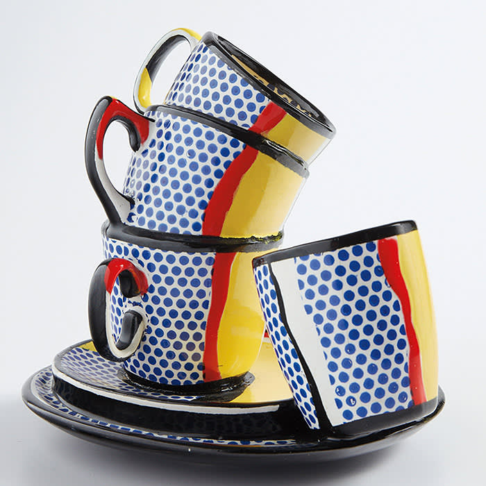 PROPERTY OF A DISTINGUISHED EUROPEAN COLLECTOR ROY LICHTENSTEIN Ceramic Sculpture #10 painted and glazed ceramic Executed in 1965. Estimate: £250,000 - 350,000 Permission for the use of any image is granted for timely reporting and auction review purposes only. Image courtesy of Phillips