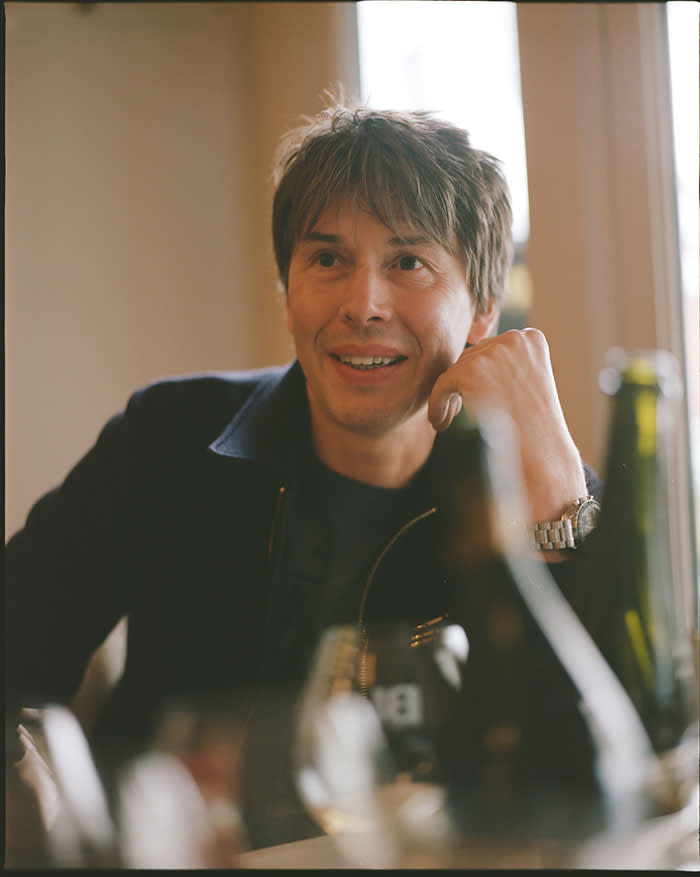 Brian Cox at the champagne tasting