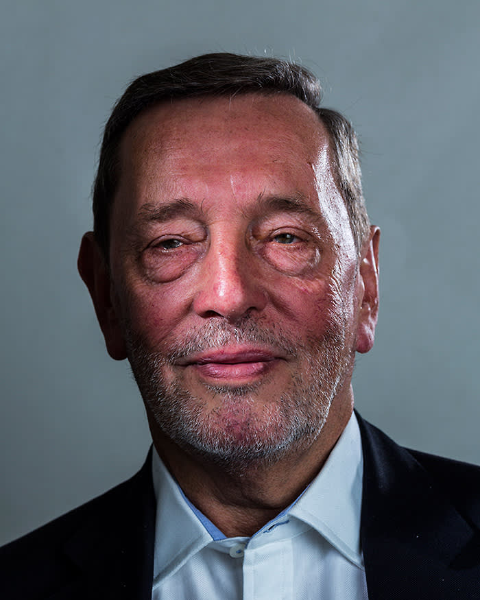 David Blunkett MP Photographed in his office at Portcullis House. David has announced that he will be standing down from the House of Commons at the next General Election in May 2015. © David Levene / eyevine Contact eyevine for more information about using this image: T: +44 (0) 20 8709 8709 E: info@eyevine.com http:///www.eyevine.com