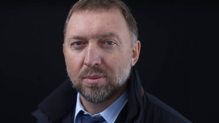 FILE: Oleg Deripaska, billionaire and chief executive officer of United Co. Rusal, poses for a photograph following a Bloomberg Television interview on day three of the World Economic Forum (WEF) in Davos, Switzerland, on Friday, Jan. 23, 2015. United Co. Rusal -- the biggest aluminum maker outside China -- and seven other Deripaska-linked firms were the most prominent targets in a list of 12 Russian companies the U.S. hit with sanctions on Friday intended to punish the country for actions in Crimea, Ukraine and Syria, and attempting to subvert Western democracies. Our editors select the best archive images on Deripaska and Rusal. Photographer: Simon Dawson/Bloomberg