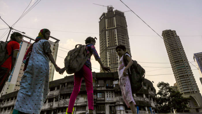 Palais Royale, an under construction residential tower stands in Lower Parel area in Mumbai, India, on Saturday, Jul. 13, 2019. Photographer: Dhiraj Singh/FT
