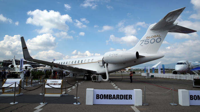 Bombardier Bets All On Private Jets Riding Out Storm Financial Times