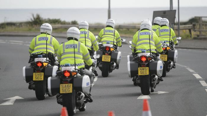 Police checks at Trump Turnberry resort in South Ayrshire as the US President Donald Trump is expected as part of his visit to the UK. PRESS ASSOCIATION Photo. Picture date: Friday July 13, 2018. See PA story POLITICS Trump. Photo credit should read: John Linton/PA Wire