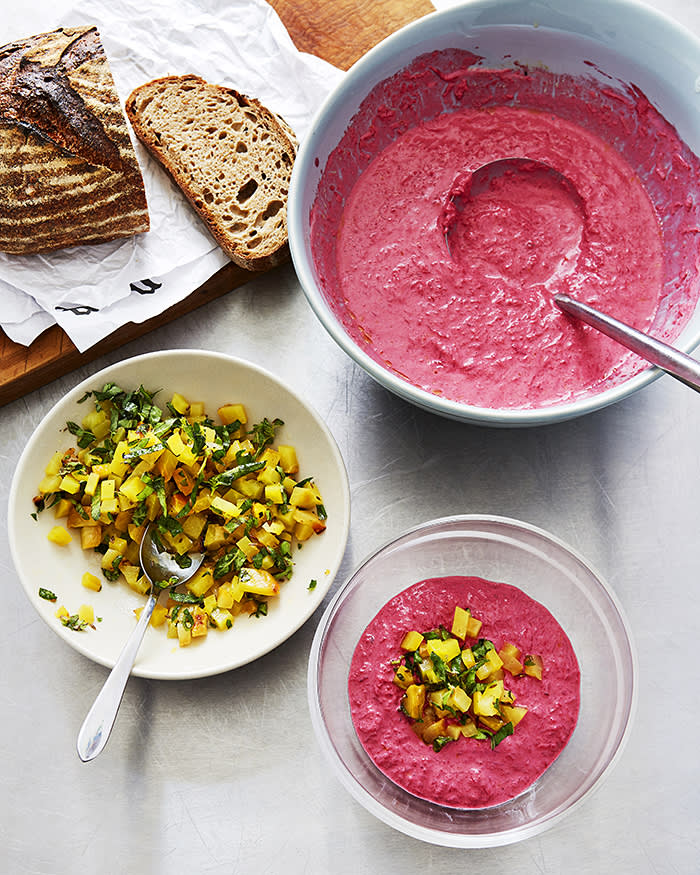 Honey & Co's cold beetroot and yoghurt soup recipe | Financial Times