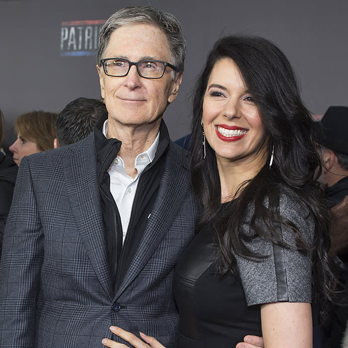 BOSTON, MA - DECEMBER 14: John Henry with his wife Linda Pizzuti Henry on the red carpet before the Special Boston screening of Patriots Day at Wang Theatre on December 14, 2016 in Boston, Massachusetts. (Photo by Scott Eisen/Getty Images for Lionsgate)