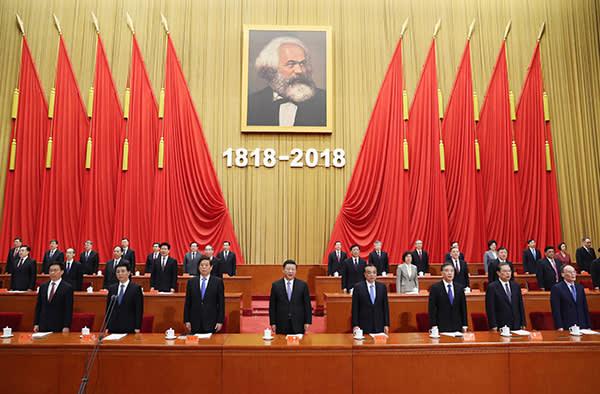 President Xi Jinping marking the 200th anniversary of Karl Marx's birth, May 4 2018