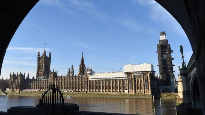 Mandatory Credit: Photo by FACUNDO ARRIZABALAGA/EPA-EFE/REX/Shutterstock (10032040a) A general view of the British Houses of Parliament in Westminster central London, Britain, 13 December 2018. Media reports state that British Prime Minister Theresa May is heading to Brussels to  meet the other 27 EU Heads of State in the hope of finding a solution to the Irish backstop in her Brexit plans. British Houses of Parliament in Westminster, London, United Kingdom - 13 Dec 2018