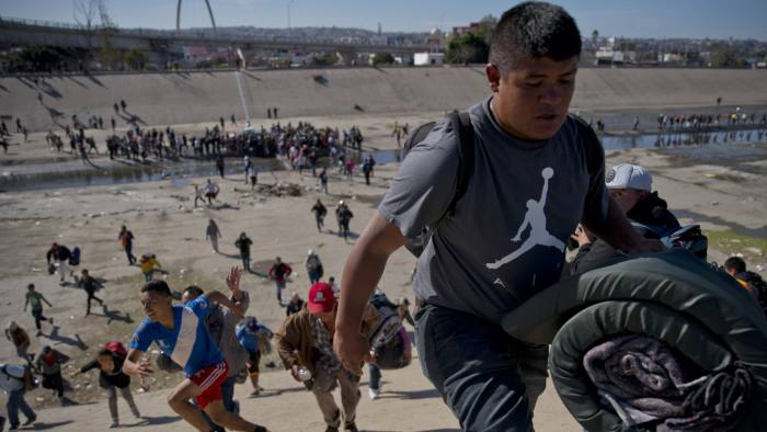 Illegal immigration was falling before Trump's election   Financial Times