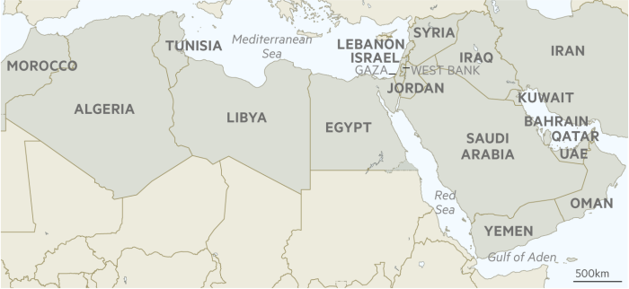 middle east arab spring map