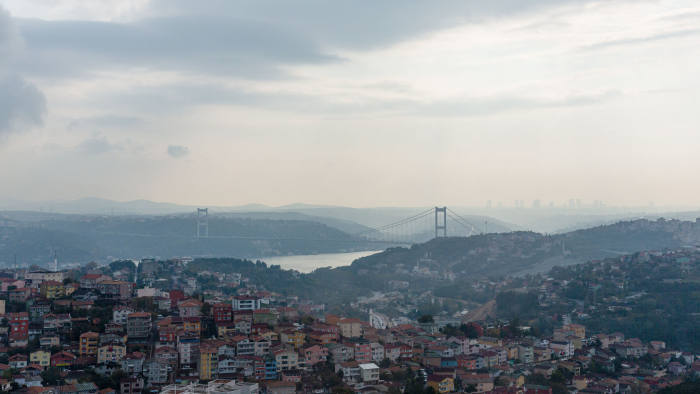 A view over Istanbul, Turkey, from the campus of Istanbul Technical University (İstanbul Teknik Üniversitesi)