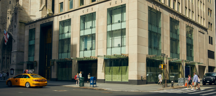 A closed store on Fifth Avenue