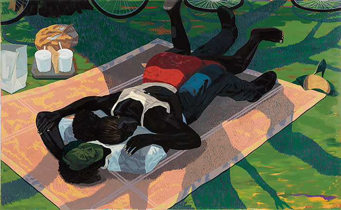 Kerry James Marshall, Untitled ( Blanket Couple) 2014 Courtesy of Fredriksen Family Collection