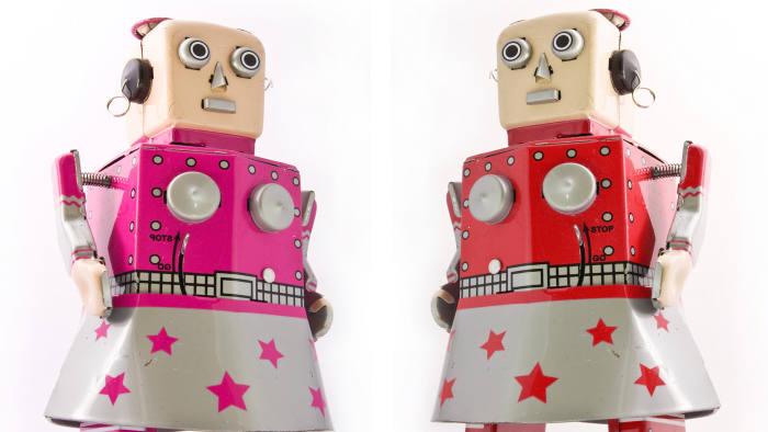 two robot girls