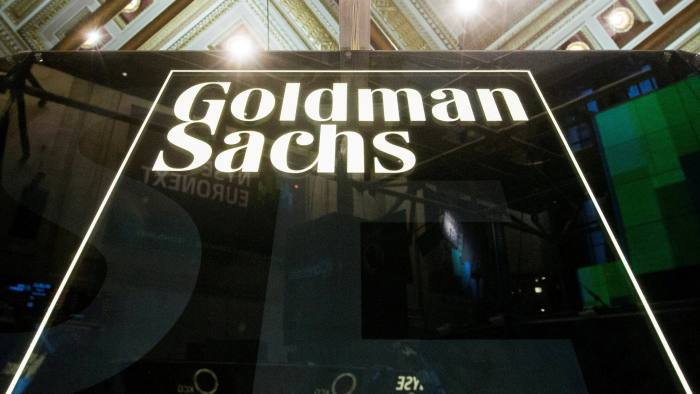 FILE PHOTO: A Goldman Sachs sign is seen above the floor of the New York Stock Exchange shortly after the opening bell in the Manhattan borough of New York, U.S. on January 24, 2014.    REUTERS/Lucas Jackson/File Photo                       GLOBAL BUSINESS WEEK AHEAD