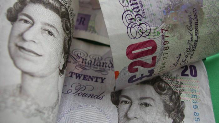Money £20 twenty pound notes sterling cash