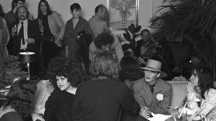 Mandatory Credit: Photo by Pierre Schermann/Penske Media/REX/Shutterstock (6905168a) Tally Brown, Sylva and other guests attending a party thrown by nightlife photographer Francesco Scavullo in honor of Andy Warhol superstar Candy Darling on February 16, 1972 in New York ..Article title: 'Eye View: Warhol-y Rollers Ashes and Lillies' party hosted by Francesco Scavullo in honor of Candy Darling's 'Women in Revolt' opening, New York