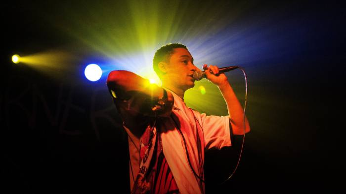 Loyle Carner performs on stage at The Garage on February 21, 2016 in London, England.