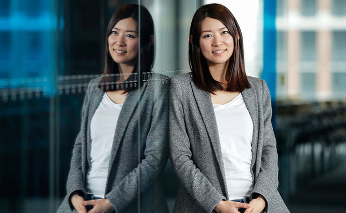 Akiko Naka, chief executive officer of Wantedly Inc., poses for a photograph in Tokyo, Japan, on Tuesday, April 21, 2015. Wantedly, the recruiting and social networking platform Naka started in 2010, now has 600,000 active members who use it to expand their contact list and find jobs. Photographer: Kiyoshi Ota/Bloomberg *** Local Caption *** Akiko Naka