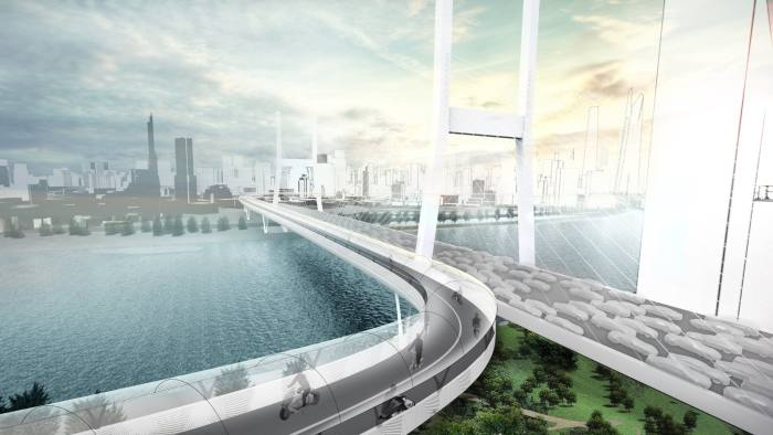 Elevated road concept showing BMW Vision E³ Way - taken from BMW press website