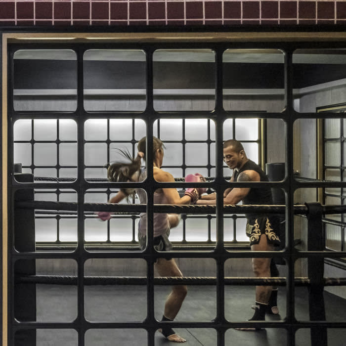 Perfect your roundhouse kick at friendly gym Kru Muay Thai