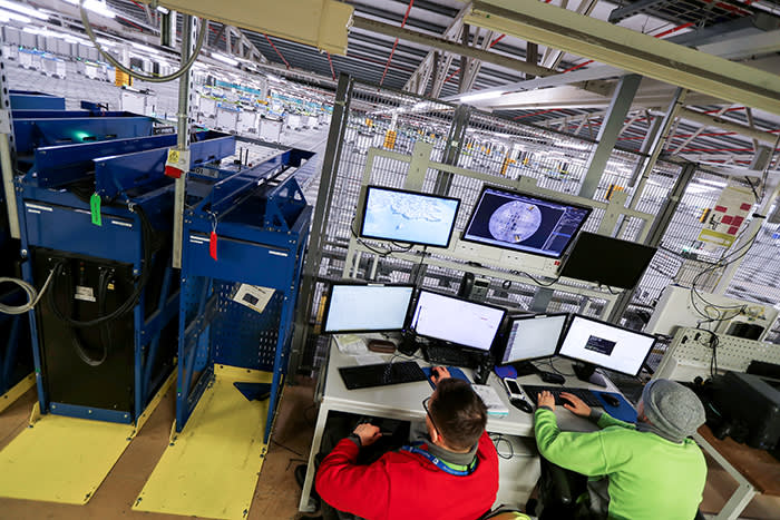 Technicians oversee the operations of the