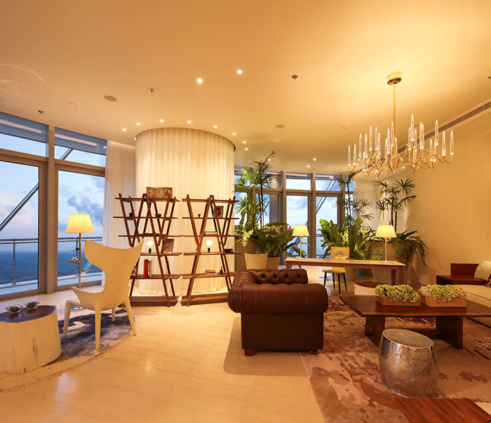 A room at the Sapphire Residences, where a four-bedroom apartment on the 44th floor costs $3.295m