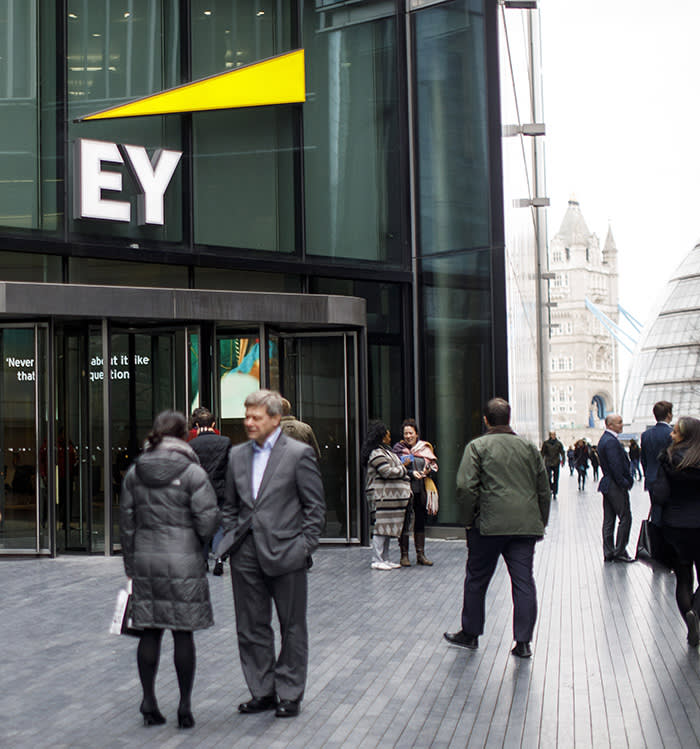 Ernst & Young offices in London, photographed on 14 February 2018. - Tolga Akmen