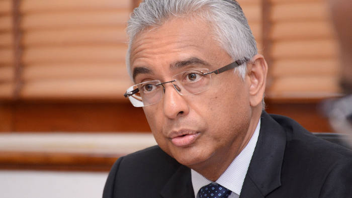 Mauritian Prime Minister Pravind Jugnauth speaks during a press conference in Port-Louis on February 2, 2017. / AFP / Nicholas LARCHE (Photo credit should read NICHOLAS LARCHE/AFP/Getty Images)
