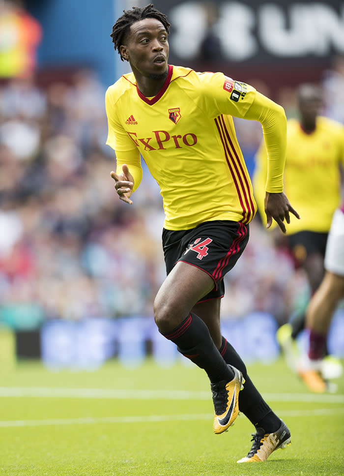 BIRMINGHAM, ENGLAND - JULY 29: Nathaniel Chalobah of Watford during the pre season friendly match between Aston Villa and Watford at Villa Park on July 29, 2017 in Birmingham, England. (Photo by Mark Robinson/Getty Images)