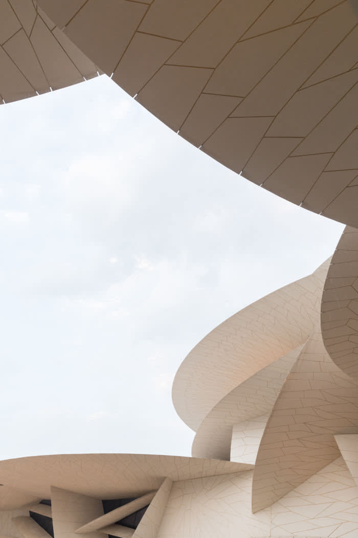 The new National Museum of Qatar is a desert rose of mutant scale