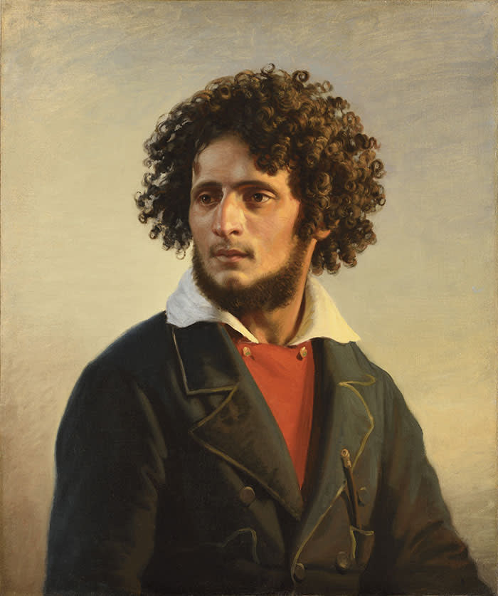 FRENCH SCHOOL c.1850 Portrait of the brigand Orlando di Subiaco c.1850 Oil on canvas, 74 x 62 cm (29 1/8 by 24 ⅜ in.) Fabienne Fiacre gallery