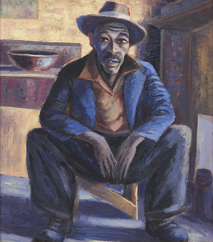 """Portrait of a Man (Lentswana)"", around 1942-47, by Gerard Sekoto Sold at Bonhams for £380,750 with fees this month"