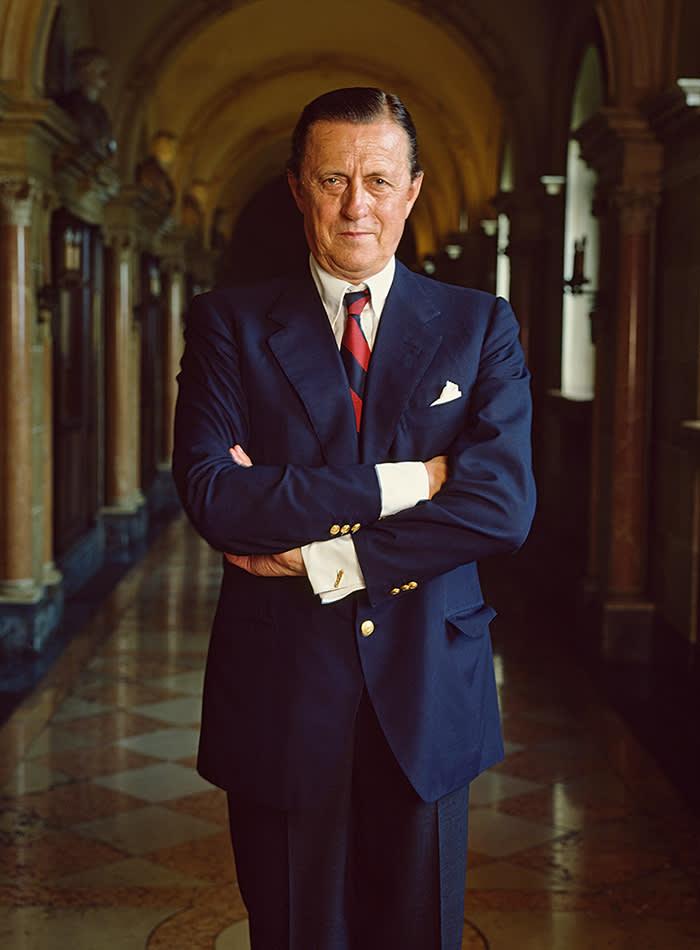 Baron Hans Heinrich Thyssen-Bornemisza (1921 - 2002), Lugano, Switzerland, 1983. (Photo by Evelyn Hofer/Getty Images)