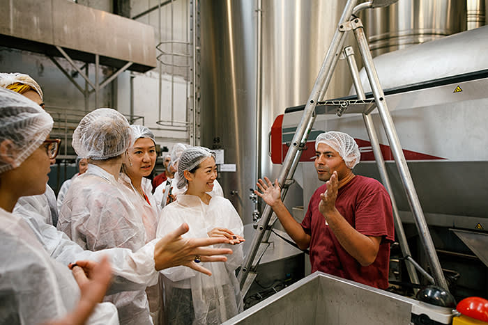 Hands on: BSB students visit L'Héritier-Guyot, a producer of crème de cassis in Dijon