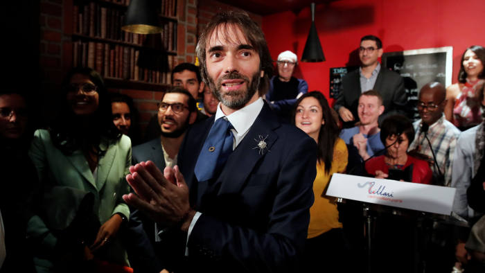 Paris mayoral dissident candidate from La Republique En Marche (LREM) Cedric Villani attends a meeting to announce his candidature in the forthcoming mayoral election in Paris, France, September 4, 2019. REUTERS/Benoit Tessier - RC1632EFAB60