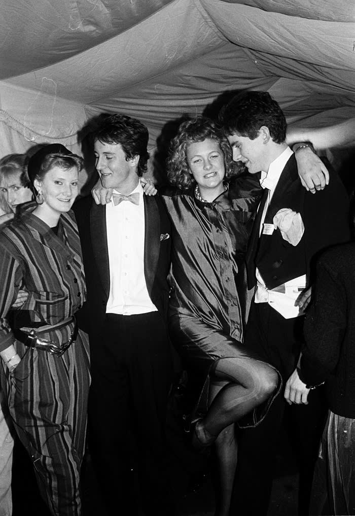 David Cameron at the Oxford Union Valentine Ball in 1987. After Oxford, Cameron went straight to the Conservative party's research department – where he would later encounter his future chancellor, George Osborne