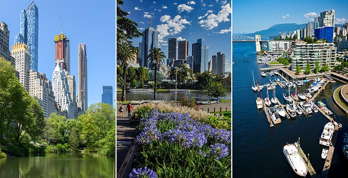 New York City, Melbourne, Vancouver, cities where Chinese interest has been strong