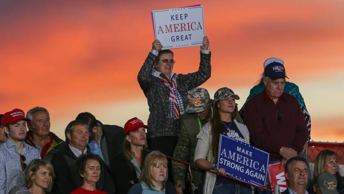 Demetri Sevastopulo story for World on midterm elections in Montana - Missoula airport where President Donald Trump held an open air rally.