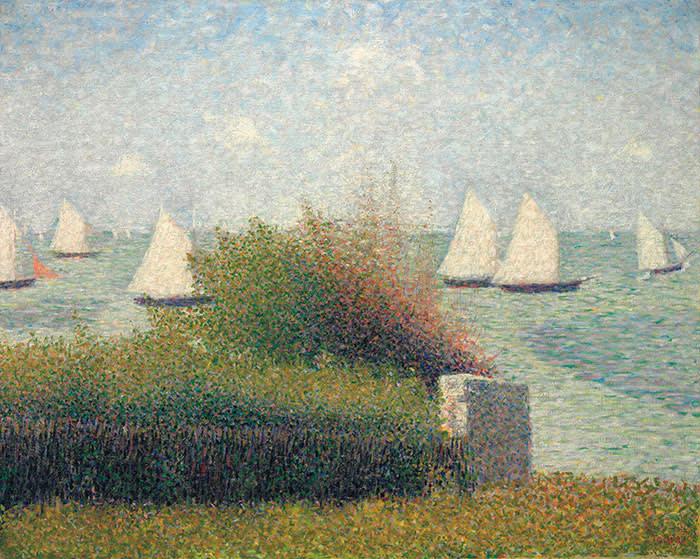 Georges Seurat's 'La rade de Grandcamp' (1885)