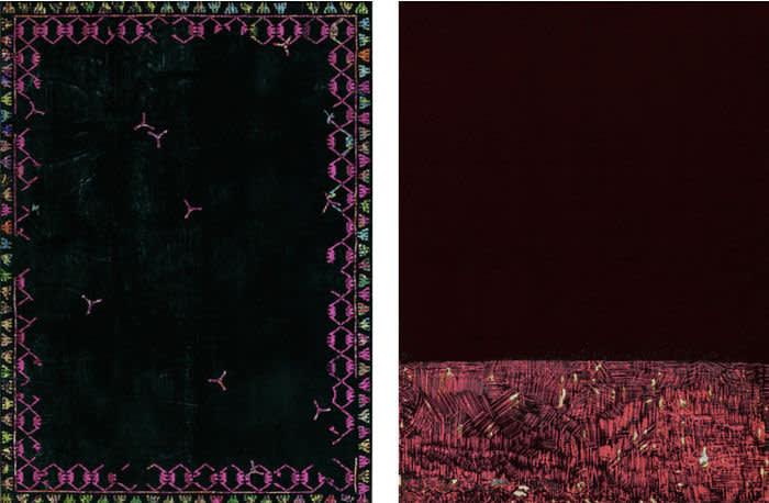 Mukazhanova Gulnur, Moment of the Present #17, 2019, Brocade, lurex, felt and pins 140х170 cm, Courtesy of Aspan Gallery