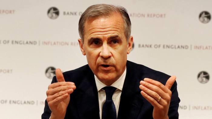 Mark Carney, Governor of the Bank of England, addresses the media during the quarterly Inflation Report press conference in London, Britain May 10, 2018. Frank Augstein/pool via Reuters