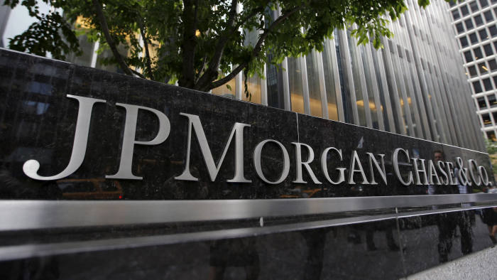 FILE PHOTO: A view of the exterior of the JP Morgan Chase & Co. corporate headquarters in New York City May 20, 2015. REUTERS/Mike Segar/Files/File Photo