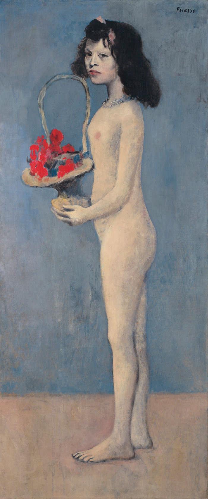 Pablo Picasso's 'Fillette à la corbeille fleurie' (1905)