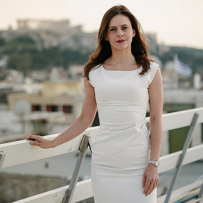 Effie Achtsioglou, minister of labour and social security